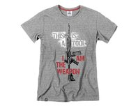 Koszulka T-shirt Tirvall I Am The Weapon M4 - szara